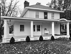 Plymouth, Michigan (Dennis Sparks) Tags: blackwhite michigan plymouth house iphone