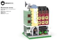 Mecabricks Renderfarm Test - Erling's Café - 4K resolution (BrickJonas) Tags: lego rendering render mini modular moc building buildings microscale café