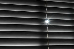 'Good Morning' (Canadapt) Tags: blinds shutter sunlight flare bc bw canadapt
