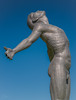 Elevation blue (Coisroux) Tags: sculpture outreached humanity art dramatic bluesky skies projecting d5500 nikond powerful antonsmith delairegraff man metal bronze