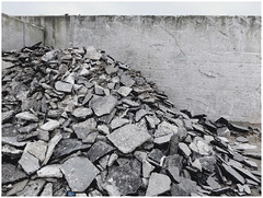 Cement industry — What's left ... (michelle@c) Tags: urban suburban manmade landscape industrial industry cement wall heap waste grey blue shard harbour victor quay seine swest paris xv 2017 michellecourteau