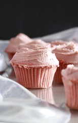 Millennial Pink Cupcakes (Layer Cake Parade) Tags: millennial millennialpink pink cupcakes pinkcupcakes vanillacupcakes dessert sweets foodphotography foodstyling