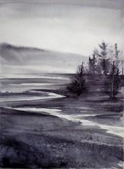 Práctica con Tinta Neutra (benilder) Tags: tintaneutra neutraltint watercolor watercolour acuarela aquarelle paisaje landscape paysage benilde