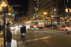 Market Street (Jay Pasion) Tags: jaypasion nikon d7500 35mm street people train bike sanfrancisco california downtown bayarea night lights
