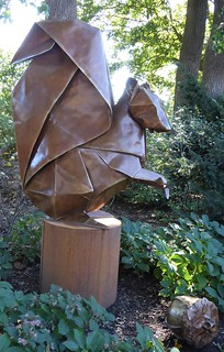 Lisle, IL, Morton Arboretum, Origami in the Park, Seed Sower (Artist: Kevin Box)