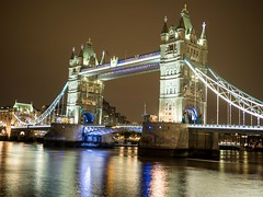 Tower Bridge (akroushy) Tags: towerbridge london thames reflection nightscape night em5markii