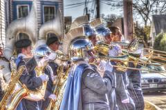 The Parade (macnetdaemon) Tags: parade helmet marching band hdr veterans day canon 7d markii brass instrument music trombone horn tuba uniform reflection titans nashua tenor saxaphone