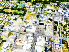Toy Town (Steve Taylor (Photography)) Tags: art digital architecture newzealand nz southisland canterbury christchurch cbd city
