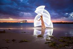 Kwinana Beach Light Painting- Lightning-4.jpg (picturesbysteve) Tags: sunset 24105f4 november2017 lightning kwinana canon6d 24105 sea ozlightjunkies 6d ©stephenhumpleby 2017 wa kwinanabeach perth longexposure westernaustralia model lightpainting beach canon lightening © stephen humpleby