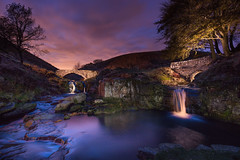 The Path to the Shires (J C Mills Photography) Tags: peak district derbyshire light painting night long exposure landscape 3 shires head river dane waterfall bridge autumn