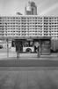 Warsaw, Poland. (wojszyca) Tags: contax g2 zeiss biogon 21mm foma retropan 320 soft hc110 city urban architecture demolition change bus sidewalk highrise modernism warsaw warszawa
