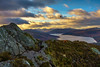 Ben A'an at Sunset (MilesGrayPhotography (AnimalsBeforeHumans)) Tags: 1635 fe1635mm sonyfe1635mmf4zaoss autumn a7ii britain benaan callander cliff dusk europe evening fe f4 glow golden iconic ilce7m2 landscape lens loch lochlomond lochlomondandthetrossachs lochkatrine mountains hills outdoors oss photography photo tranquil rocks scotland sky skyline scenic sunset sunshine sunlight sonya7ii sony sonyflickraward twilight trossachs uk unitedkingdom water zeiss bird scottish scottishlandscapephotography landscapephotography binnien