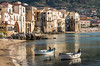 Cefalù (pietkagab (on the road)) Tags: cefalu sicily sicilian coast town old fisshing village boats fishermanbeach sand sandy sunny afternoon evening golden light italy italian mediterranean sea cove harbour port pietkagab photography pentax piotrgaborek pentaxk5ii travel trip tourism holidays vacation destination europe european outdoors buildings architecture