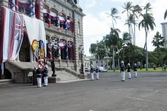 Royal Guard Re-creatioin Ceremony (Hawaii Air National Guard) Tags: hawaiiairnationalguard hiang 154thwing hawaii royalguard woodrow gregoryswoodrow michaelgabster briggengregoryswoodrow woody chiefgabster iolanipalace november16 jointbasepearlharborhickam hi unitedstates us