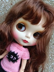 Hand-knitted sweater for Blythe dolls
