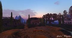 Val d'Orcia (Exedra Lyric) Tags: valdorcia toscana tuscany landscape secondlife second life virtual virtualworld erba albero cielo edificio