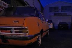 sudden orange (pancolar user) Tags: orange opel commodore opelcommodore pomarańczowy highiso grain korn sigma19mmmft sigmadnartlenses sigma19mm sigma19 sigmaart2819mm street streetphotography sokakfotografciligi sigma19mmf28 lowlight outofcamera