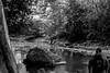 tom walkin on the rocks (jellamalo) Tags: nature hike river adventure blakandwhite