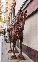 2017-09-12_16-12-41 Iron Horse (canavart) Tags: canada alberta calgary downtown horse rusty sculpture