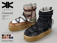 Chamonix :: Ankle Boots :: 10 Colors ({kokoia}) Tags: boots chamonix ankle mesh kokoia snow moutain maitreya slink tmp eve belleza woman booty winter secondlfie 3d avatar