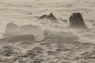 Tempête de sable en baie d'Audierne