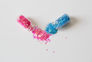 Confetti in small bottles