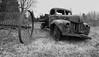 ...simple beauty...sitting idle... (jamesmerecki) Tags: rust worktruck pickup blackandwhite monotone bw old vintage truck ford roadside transporation abandoned beauty