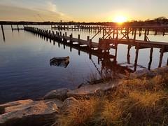 Pier (quinn.anya) Tags: pier water sunset grass edgartown marthasvineyard
