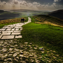 Mam Tor Summit (Mayur Shivz - Out and about photography) Tags: summit mamtor ton peak district edale mountain hike path view windy derbyshire england united kingdom britain hope valley castleton olympus omd em 1235