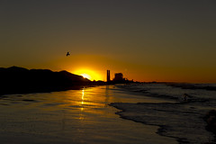 Hueneme Beach (Z. Abbey) Tags: beach california pacificocean sunrise cloudsstormssunsetssunrises sun sky porthueneme venturacounty canont3i canon dslr ocean southerncalifornia socal outdoors nature marine