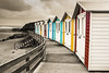 Beach Huts in Black, White & Colour (dazindevon) Tags: seaside selective sea canon beachhuts beach cornwall