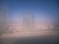 Lookin' through the window (Rob₊Lee) Tags: water beads condensation glass window mosiac