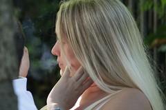 Blonde Smoke (if you insist) Tags: smoking smoker breath blonde exhale eurosmoke addict candid cigarette