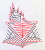 Divine Fire (Daniel Ari Friedman) Tags: pen ink paper daniel ari friedman danielarifriedman draw drawing black red color drawings creative philosophy cartoon sketch