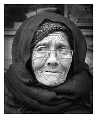 A worried look (posterboy2007) Tags: kathmandu nepal nepali woman old street monochrome bw portrait sony elderly sonyrx100m3