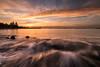 Morning Fire (My Pixel Magic) Tags: landscape waterscape sunrise sunrisecolor burning sky waves waterflow rockybeach seascape sea slowshutter nature naturecolor samsungnx1
