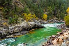 Animas River valley - San Juan Nat. Forest, Colorado, USA 5 (Russell Scott Images) Tags: autumn fall colours animasrivervalley sanjuannationalforest heritage durangosilvertonnarrowgaugerailroad trainline colorado usa russellscottimages