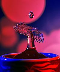 Storm in a Teacup (GeorgeN66) Tags: splashart splash creative creativeart drops droplets water fooddye macro highspeed highspeedphotography flash sb200 r1c1 nikon speedlight