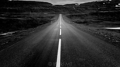 Runaway (Iñaki MT) Tags: black horizontal mountain blackandwhite bw death deep destiny drive highway iceland landscape line lines mountains nature nobody outdoors path perspective road runaway scenic style transport transportation travel valley wallpaper white