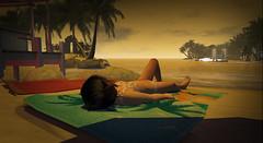 Last Drop of Summer (Phasewind2) Tags: secondlife beach sunbathing girl