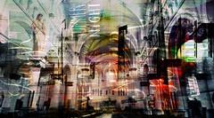 THINK (roberke) Tags: photomontage photoshop layers lagen textures textuur text tekst creation creative creatief fantasy surreal kerk church interieur