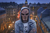 ([ pydjhaman ]) Tags: autoportrait portrait selfportrait mask skull disguise scary wicked cauchemard nightmare city cityscape citylights night street avenue urban artofvisuals france lorraine moselle metz homme man artiste realisateur photographe filmmaker photographer pydjhaman
