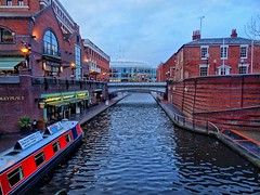 Κανάλια στο Μπέρμιγχαμ. .Birmingham canals, UK,2014 (katerinamantani) Tags: canals birmingham england winter boats