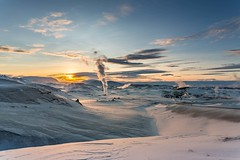 Stillness in Myvatnssveit (Einar Schioth) Tags: stillness winter sky snow frost sunshine sun sunset day canon clouds cloud nationalgeographic ngc nature mountains mountain myvatnssveit landscape photo picture outdoor iceland ísland ice einarschioth