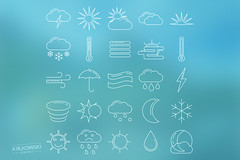 Weather Icon Set (mkrukowski) Tags: icon web internet business set vector symbol media technology school phone money mobile interface graphic shopping website button design bank collection computer pictogram social arrow ui concept flat app isolated