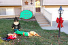 Santa knows the truth...... (Mr_Camera71) Tags: christmas gnorman gnome funny humor composite compositing aedimages canon samsung decorations yard art bow ribbon
