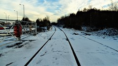 The short spur to Chasetown Church street (eucharisto deo) Tags: winter canock chase heath railway chasewater country park staffordshire snow station instantfave