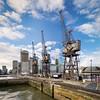 City of Cranes (thriddle) Tags: 12mmsamyang20 canarywharf docklands london xtransfomer