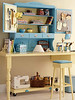 Rolling Shelf (Heath & the B.L.T. boys) Tags: organize sewing desk craftroom pegboard magnetic stool tools yellow turquoise