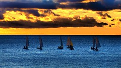 Racing Light (RP Major) Tags: boat sail sailing water adelaide sunset ocean south australia